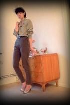 scarf - blazer - pants - shoes