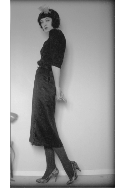 H&M sweater - skirt - H&M shoes - accessories
