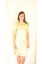 camel vintage dress