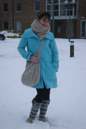 Joules boots - Fornarina coat - Zara scarf - vintage bag