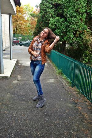Bershka jeans - Bershka jacket - Burberry shirt