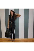 Prada bag - Uterque belt - CTF jacket - Zara boots