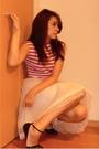 White-vintage-skirt-pink-vintage-t-shirt-black-accessorize-belt-black-thri