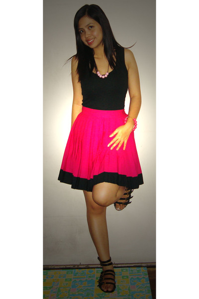 Divi top - ukay skirt - Popremix shoes - handmade accessories