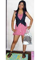dress - vest - shoes - purse