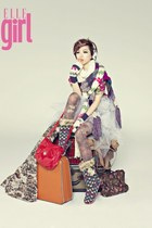 ELLE GIRL boots - ELLE GIRL gloves - ELLE GIRL stockings - ELLE GIRL scarf