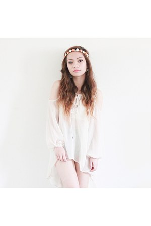 off white chiffon Forever 21 top