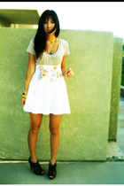 Urban Outfitters t-shirt - free people skirt - GoJane shoes - Forever21 accessor