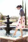 Heather-gray-romwe-blouse-cream-romwe-skirt