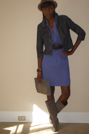 Urban Outfitters hat - Urban Outfitters shoes - thrift dress - etoile boutique p