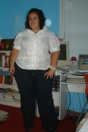 IfAutumnEnds blouse - Lane Bryant jeans - My mother bracelet - SarahsSky necklac