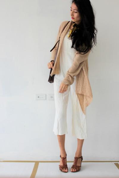 brown cute Aldo heels - light brown rag cotton on cardigan