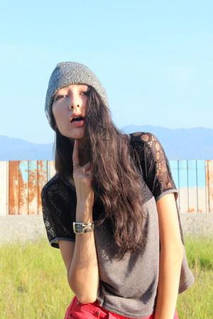 skull lace NET FASHION top - street style NET FASHION top - Hoodie hat