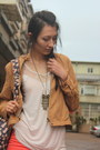 Salmon-denim-only-jeans-camel-faux-leather-net-jacket