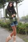 Light-brown-uggboots-asos-boots-dark-green-sweater-tex-woman-coat