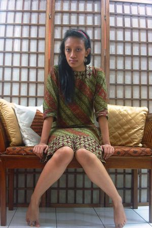 green JaCC dress