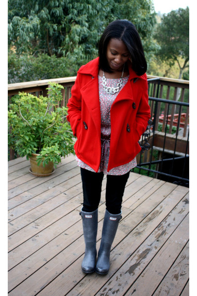 Gray Hunter Boots Red Old Navy Coats Black Urban Outfitters Pants | U0026quot;outer Beautyu0026quot; By ...