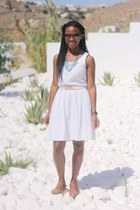 white Old Navy dress - camel Steve Madden shoes