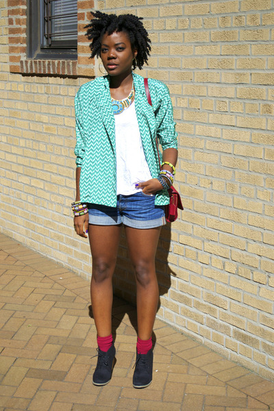 pompandpride jacket - Old Navy shoes - H&M shorts - African accessories