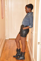H&M top - vintage from etsy shorts - Forever 21 boots