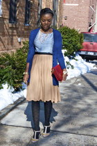 seychelles shoes - Zara bag - Zara cardigan - H&M skirt - Forever 21 necklace -