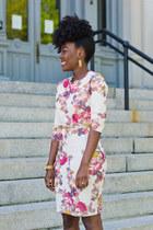 cotton Zara dress - coach bag - Zara pumps