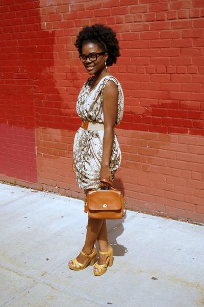 H&M dress - coach bag - Target sandals