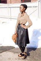 H&M shoes - Gap shirt - vintage Coach bag - H&M skirt - Etsy necklace