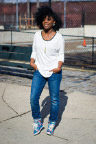 Zara top - Joes Jeans jeans - Forever 21 sneakers