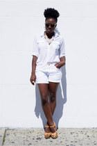 Forever 21 shirt - Forever 21 shorts - Target sandals