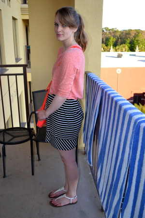 black merona skirt - light orange Old Navy shirt - white sam edelman sandals