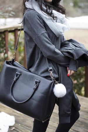 H&M boots - Topshop jeans - H&M bag