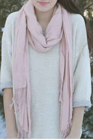 linen H&M scarf - reversible American Apparel sweater