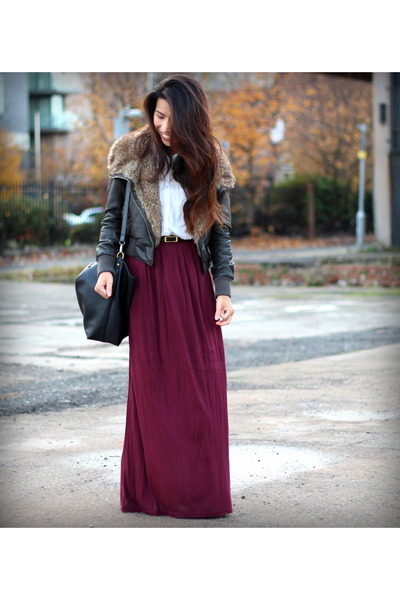 Primark skirt - dark brown new look jacket