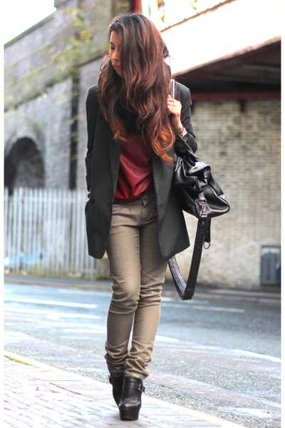 French Connection blazer - asos boots - Primark top