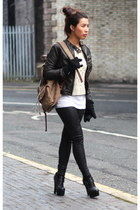 River Island bag - Superdry jacket - Primark jumper