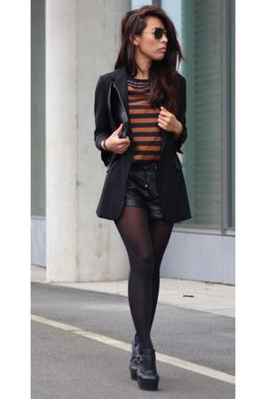 H&M blazer - asos bag - asos shorts - asos blouse