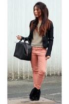 Primark boots - Zara bag - Primark pants - Primark jumper