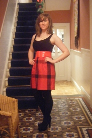 Topshop dress - Miss Selfridges shoes - Primark tights