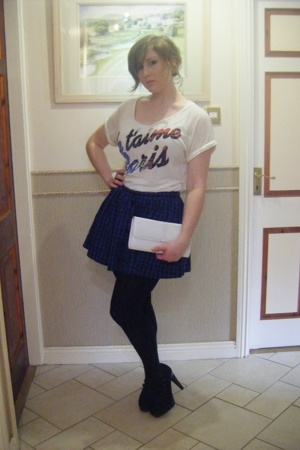 new look t-shirt - Topshop skirt - Vintage from Urban Outfitters purse - Topshop