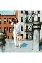 longline blazer Forever 21 blazer - Urban Outfitters jeans - Zara bag