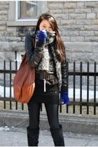 H&M jacket - American Apparel leggings - American Apparel sweater - Urban Outfit