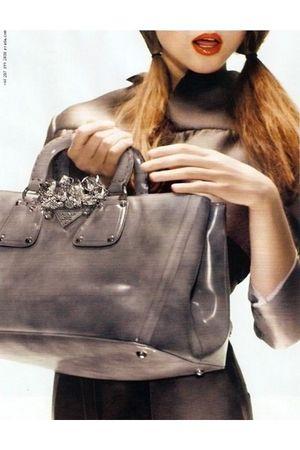 silver Prada accessories