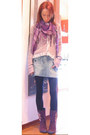 Amethyst-ankle-boots-killah-boots-periwinkle-sweater-miss-sixty-sweater-ligh