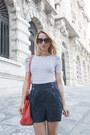 Red-zara-bag-black-h-m-sunglasses-blue-zara-sandals