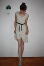 Beige-thrifted-dress-white-random-stockings-white-vintage-intimate-gray-st