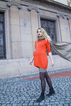carrot orange Atmosphere dress