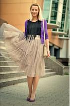 tutu nowIStyle skirt - nowIStyle bag - fringe H&M top - Filty heels