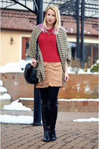 brown nowIStyle scarf - black over the knee Filty boots