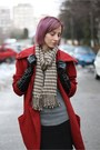 Heather-gray-nowistyle-sweater-brick-red-h-m-coat-brown-nowistyle-scarf